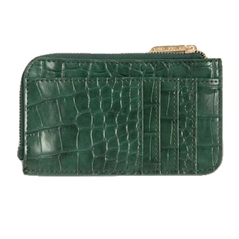 Shiraleah Carter Card Case With Key Chain In Emerald