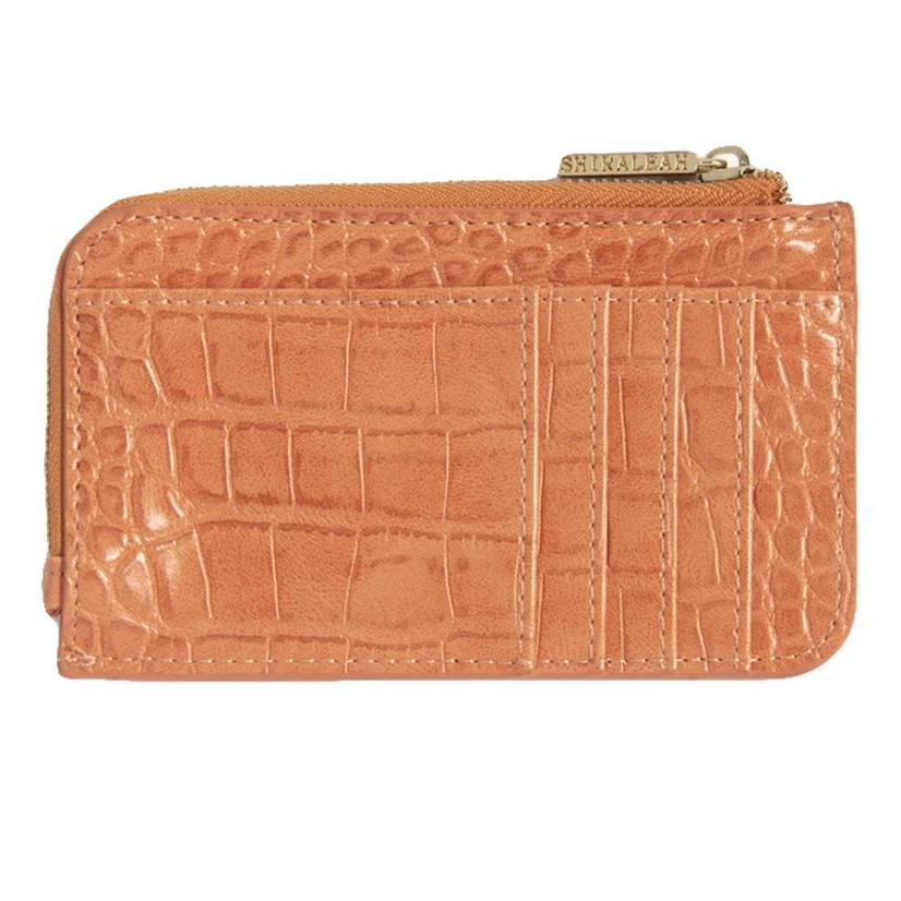 Shiraleah Carter Card Case With Key Chain In Orange