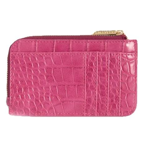Shiraleah Carter Card Case with Key Chain in Pink