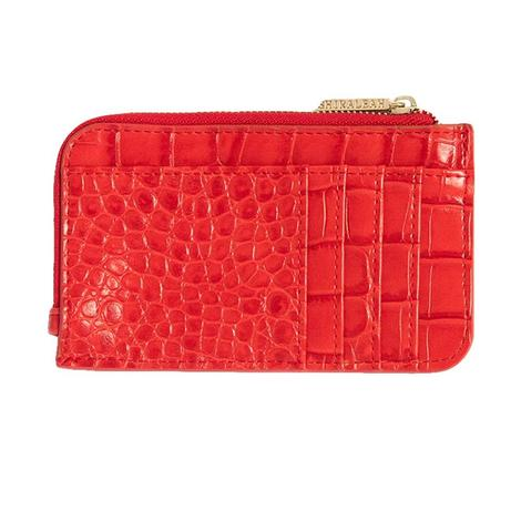 Shiraleah Carter Card Case with Key Chain in Red