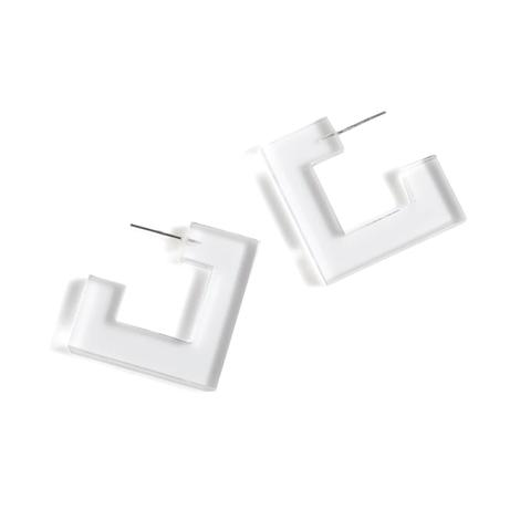 Shiraleah Petra Womens Square Earrings in Clear