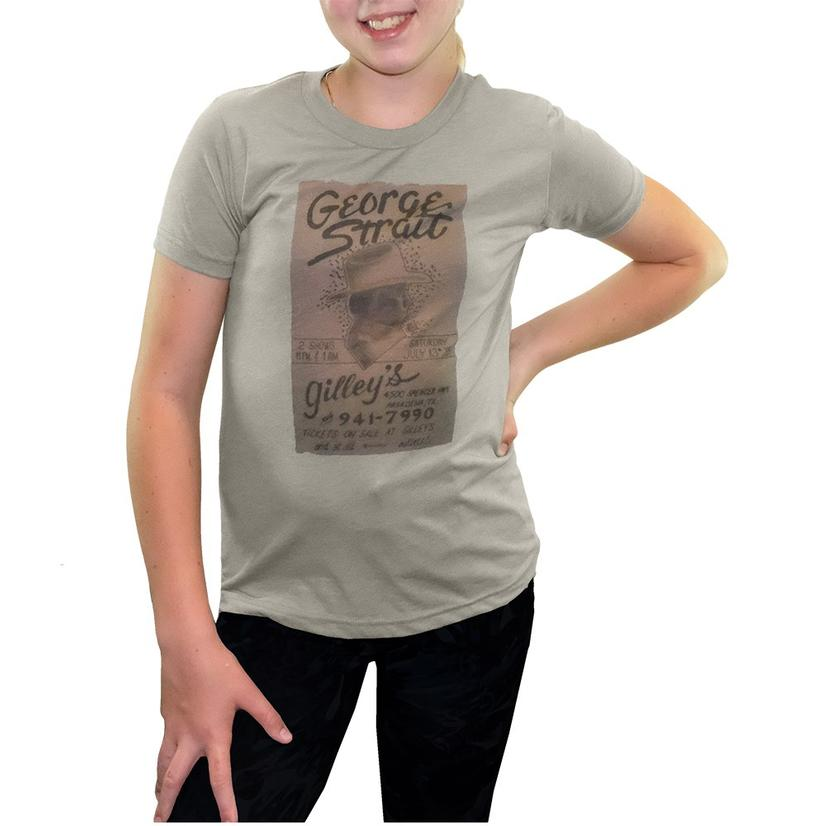 Gilley's George Straight Poster Youth Tee