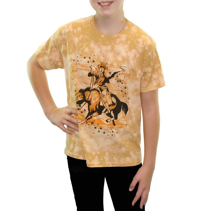 Girl's Star Cowboy Bleached Youth Tee