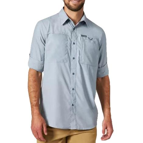 Wrangler Hike to Fish Bering Sea Long Sleeve Buttondown Men's Shirt