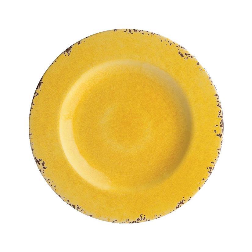 Crackle Melamine Yellow 8.75