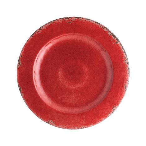 Crackle Melamine Red 8.75