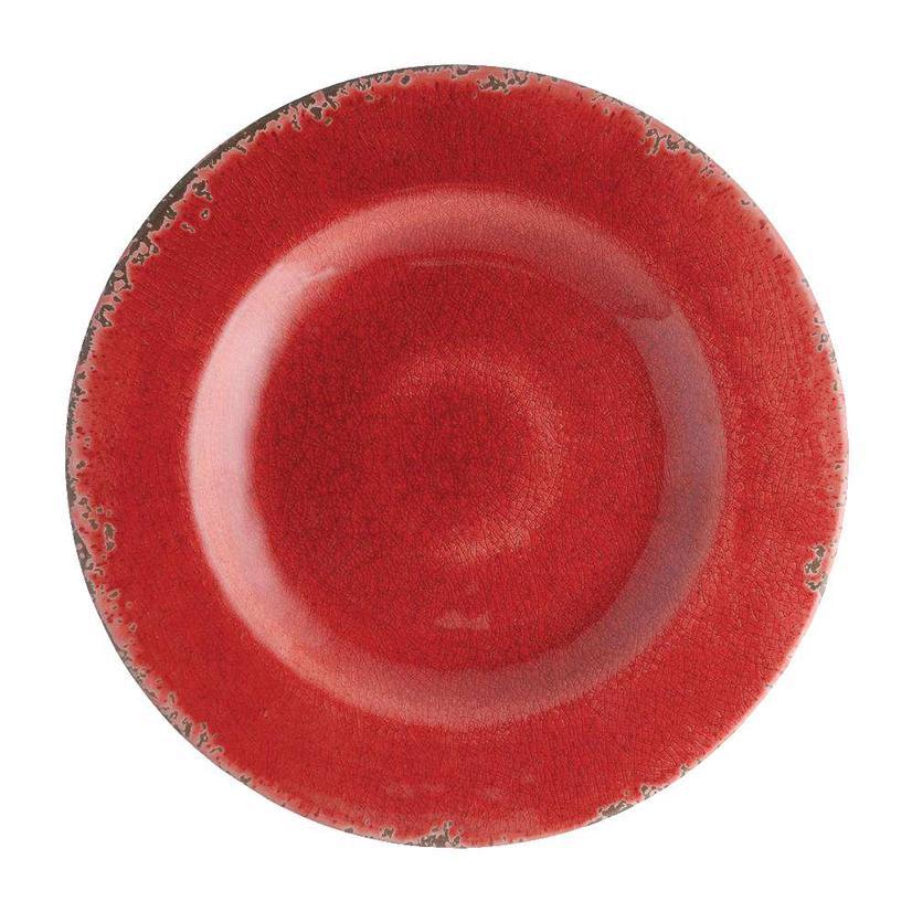 Crackle Melamine Red 11