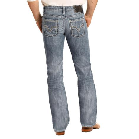 Rock & Roll Cowboy Pistol Straight Dark Vintage Jeans