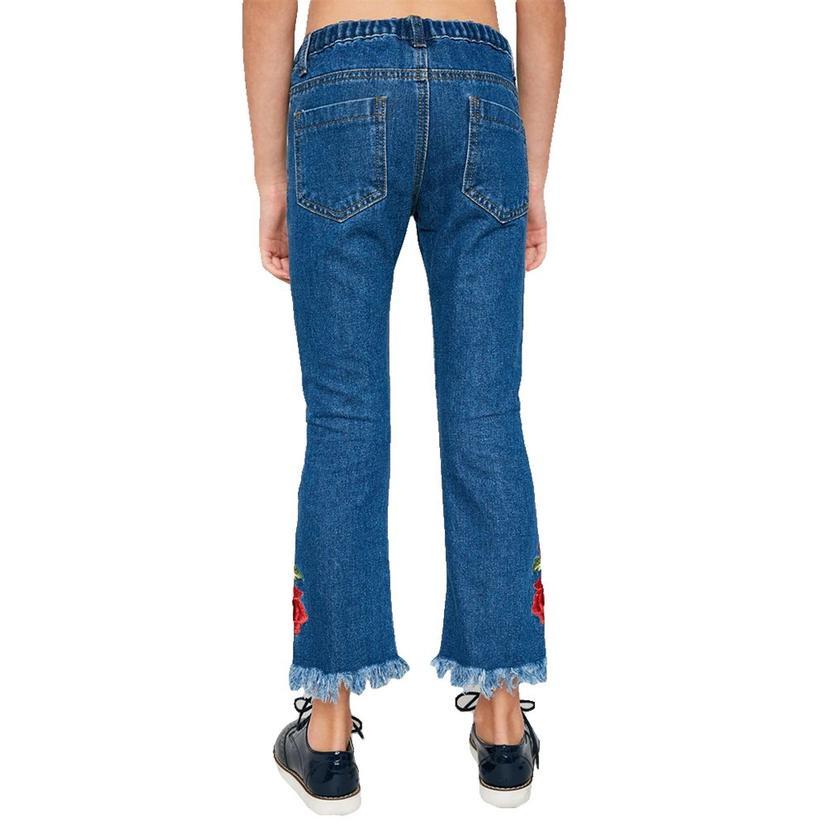 Hayden Rose Embroidered Girl's Jeans