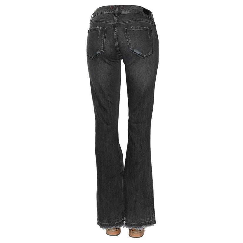 Dear John Denim Rosie Faded Black Flare Women's Jeans