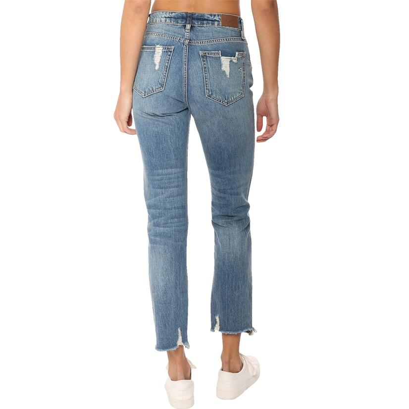 Hidden Jeans Straight Leg Distressed Denim Women's Jeans
