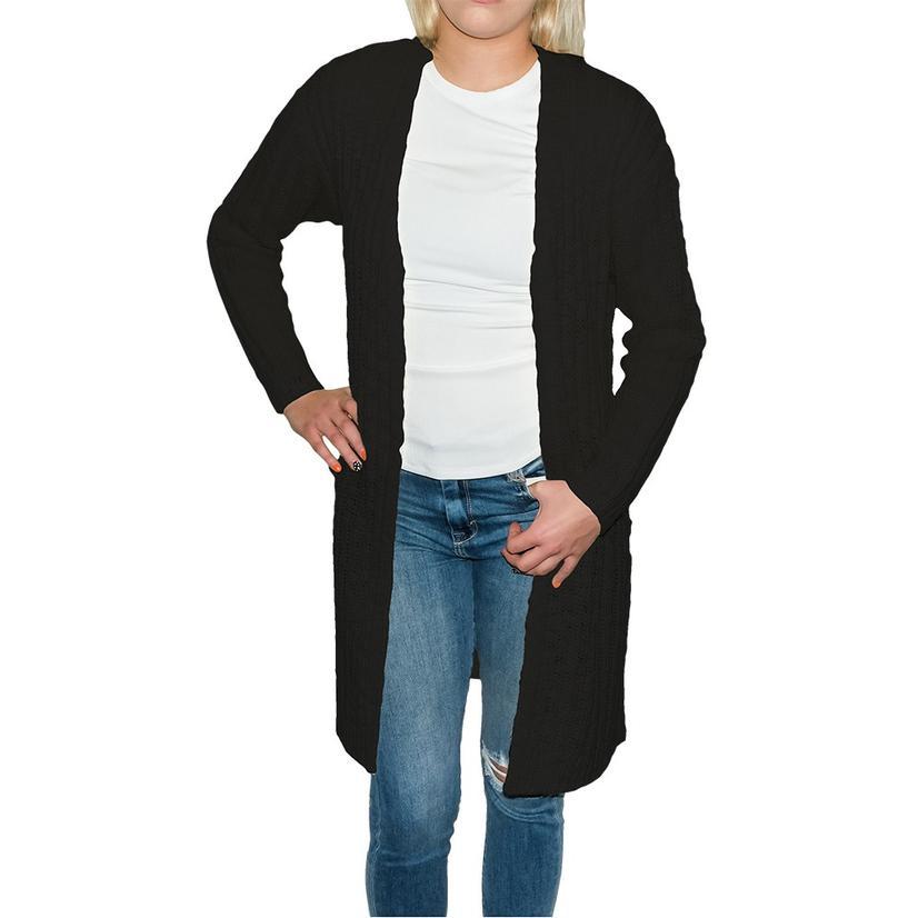 Natural Black Women's Long Cardigan Sweater
