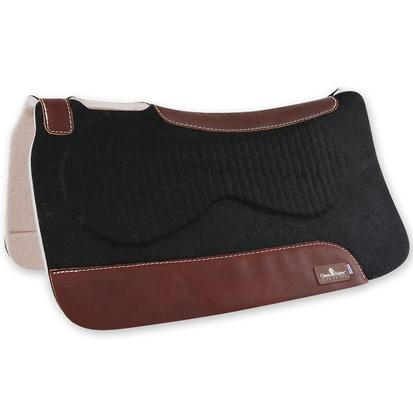 Classic Equine Zone Series Suede Top Pad CHOCOLATE