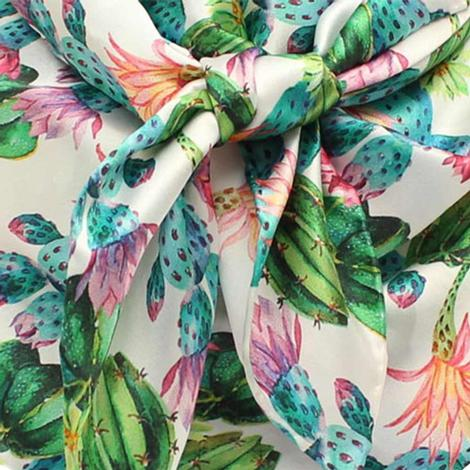 Wild Rags Silk Floral and Cactus 33x33