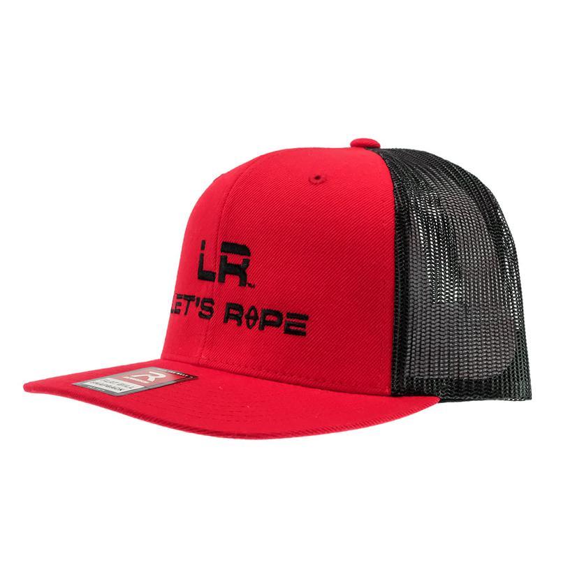 Let's Rope Red Black Meshback Cap