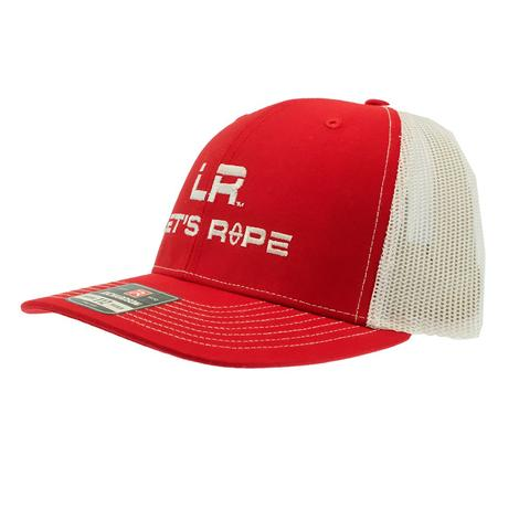 Let's Rope Red and White Meshback Cap