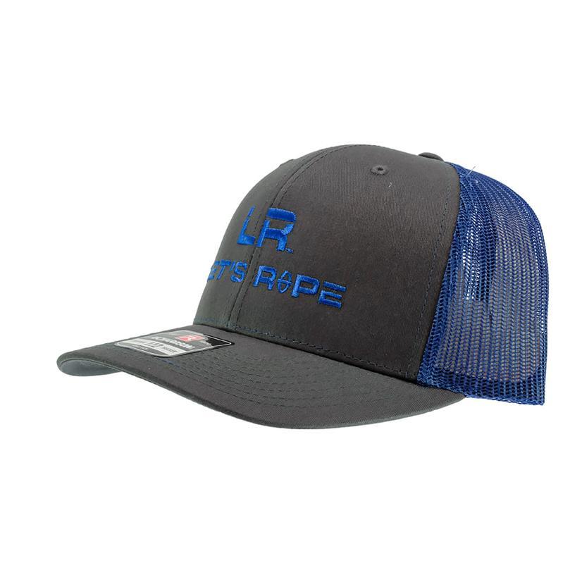 Let's Rope Royal Blue Logo And Grey Meshback Cap