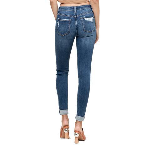 Vervet Rolled Hem Midrise Women's Skinny Jeans