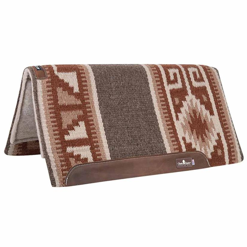 Classic Equine Wool Top Saddle Pad 34x38 CH/BR