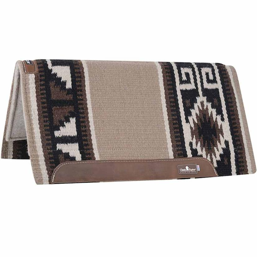 Classic Equine Wool Top Saddle Pad 34x38 TN/BR