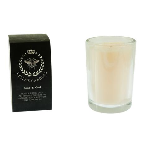 Bella's Candles Rose & Oud Scented Candle
