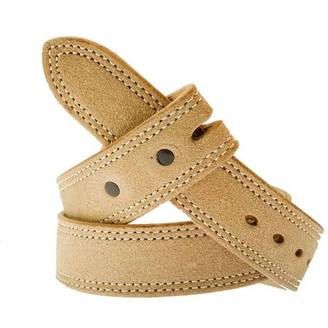 South Texas Tack Custom Roughout Leather Men's Belt