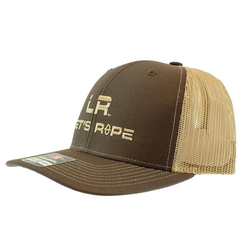 Let's Rope Brown And Khaki Meshback Cap
