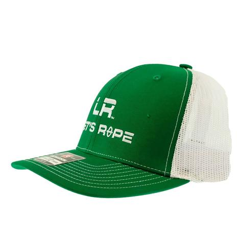 Let's Rope Green and White Meshback Cap