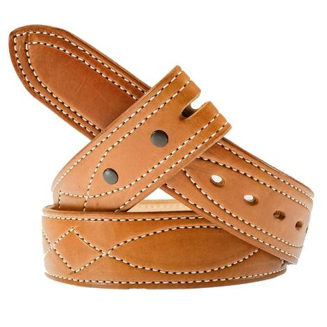 South Texas Tack Custom Saddlestich Men's Leather Belt