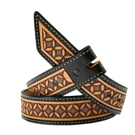 STT Cowboy Cut Brown and Black Men's Belt