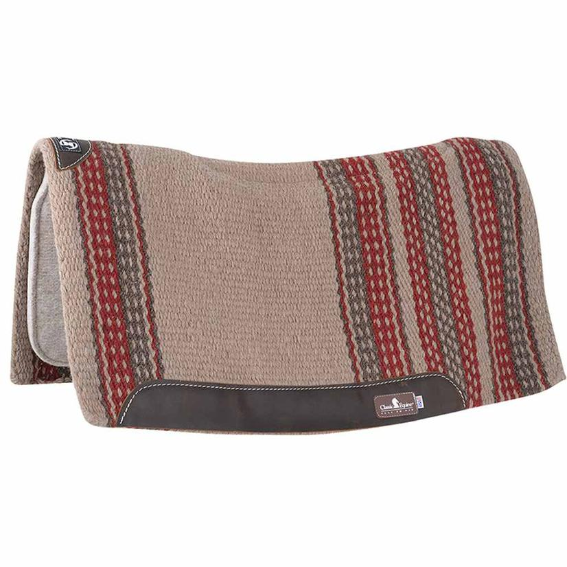 Classic Equine Zone Series Blanket Top Pad 34x38 TN/RD