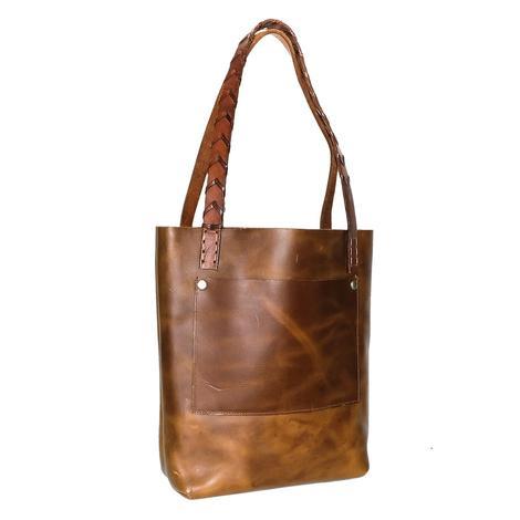 Genuine Brown Leather Tote Bag