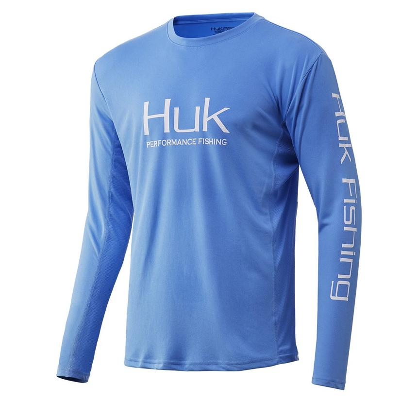 Huk Icon Carolina Blue Long Sleeve Men's Shirt