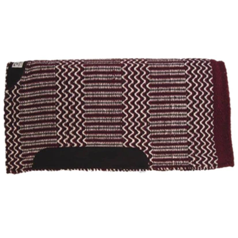 Diamond Wool Blanket Top Saddle Pad  - Assorted Colors 32x32 BURGUNDY/BLK