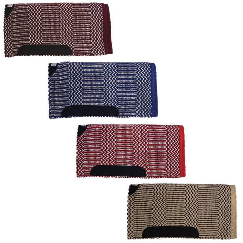 Diamond Wool Blanket Top Saddle Pad - Assorted Colors 32x32