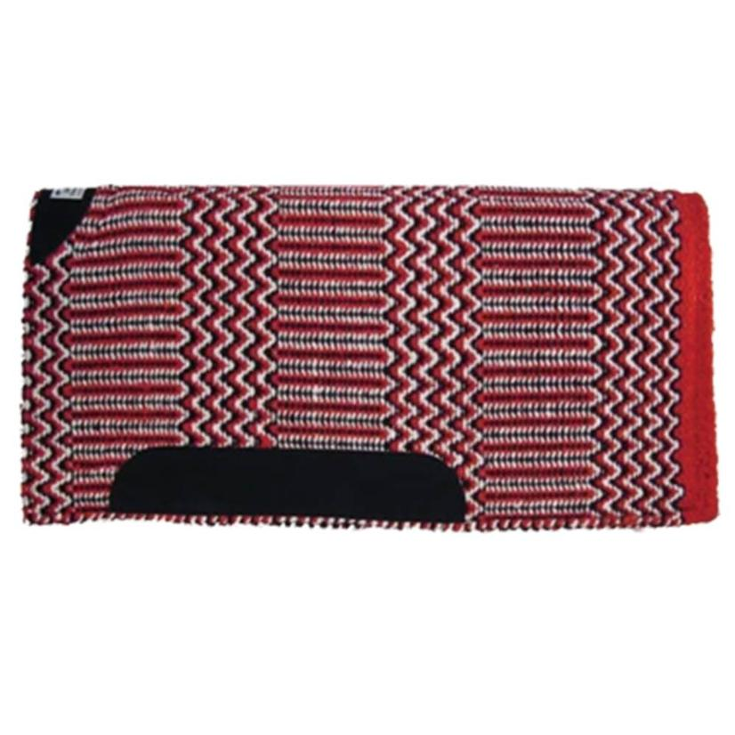 Diamond Wool Blanket Top Saddle Pad  - Assorted Colors 32x32 RED/BLK