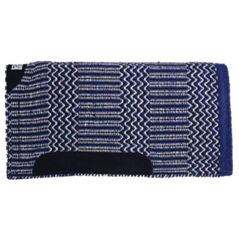 Diamond Wool Blanket Top Saddle Pad  - Assorted Colors 32x32 ROYAL/BLK