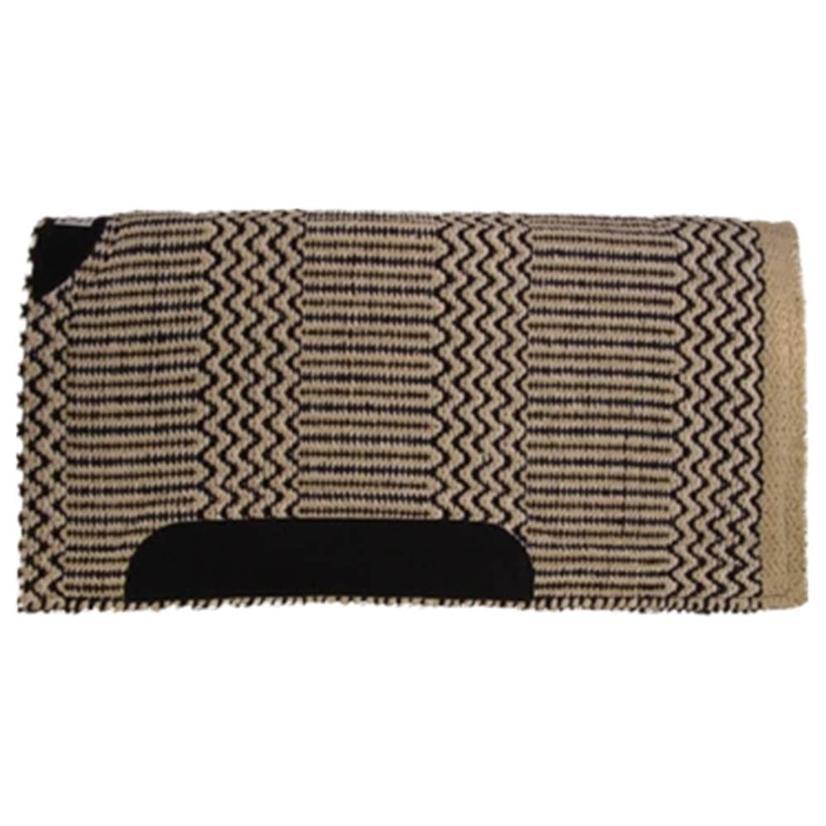 Diamond Wool Blanket Top Saddle Pad  - Assorted Colors 32x32 SAND/BLK