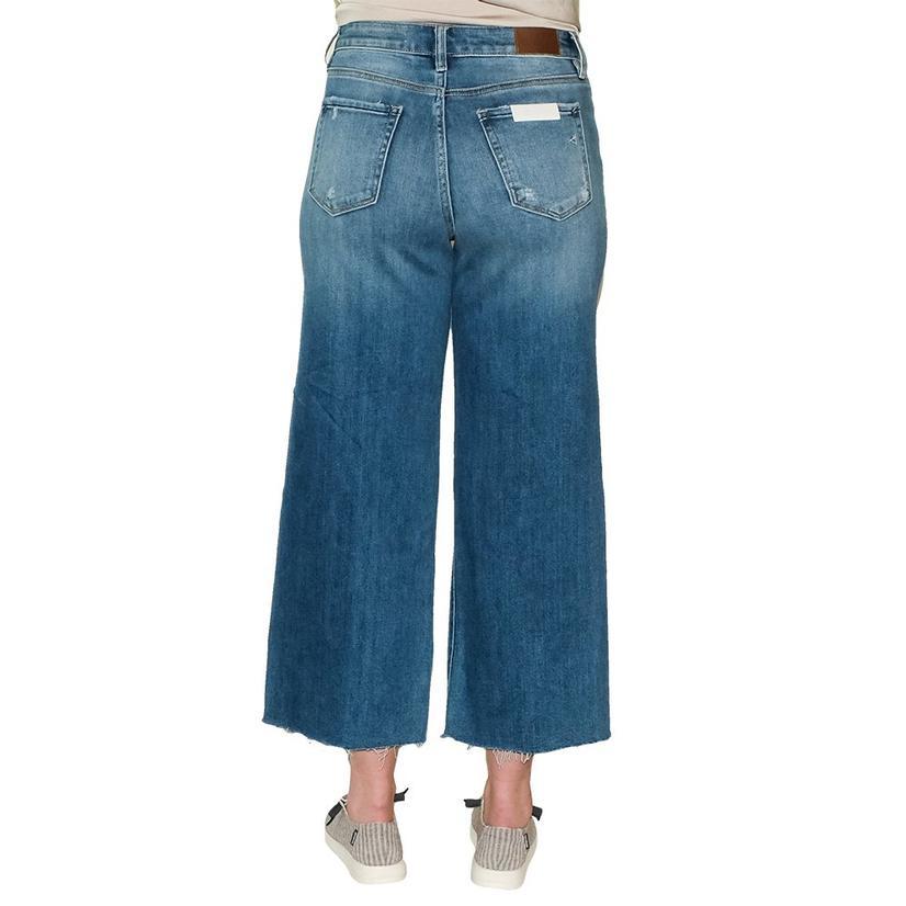 Hidden Light Wash Crop Wide Leg Jean Women's Jeans