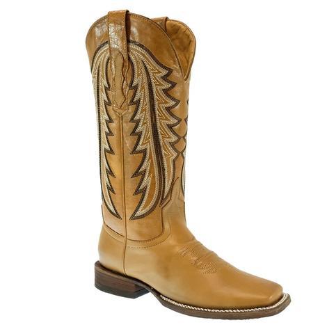 STT Ranch Horse Cognac Barza Miel Square Toe Women's Boots