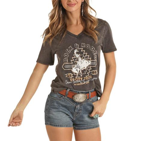 Rock and Roll Cowgirl Rock and Rodeo Graphic Tee