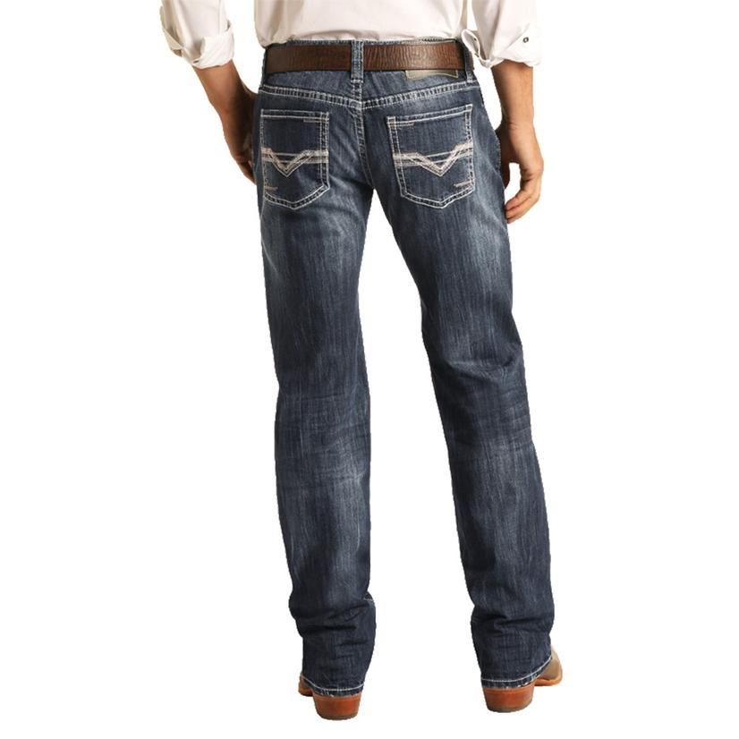 Rock And Roll Cowboy Pistol Straight Dark Vintage Men's Jeans