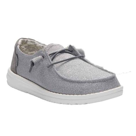 Hey Dude Wendy Stretch Women's Shoes in Sparkling Grey