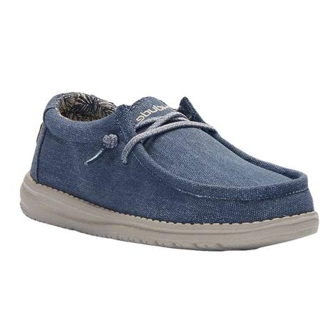 Hey Dude Wally Youth Shoes in Blue