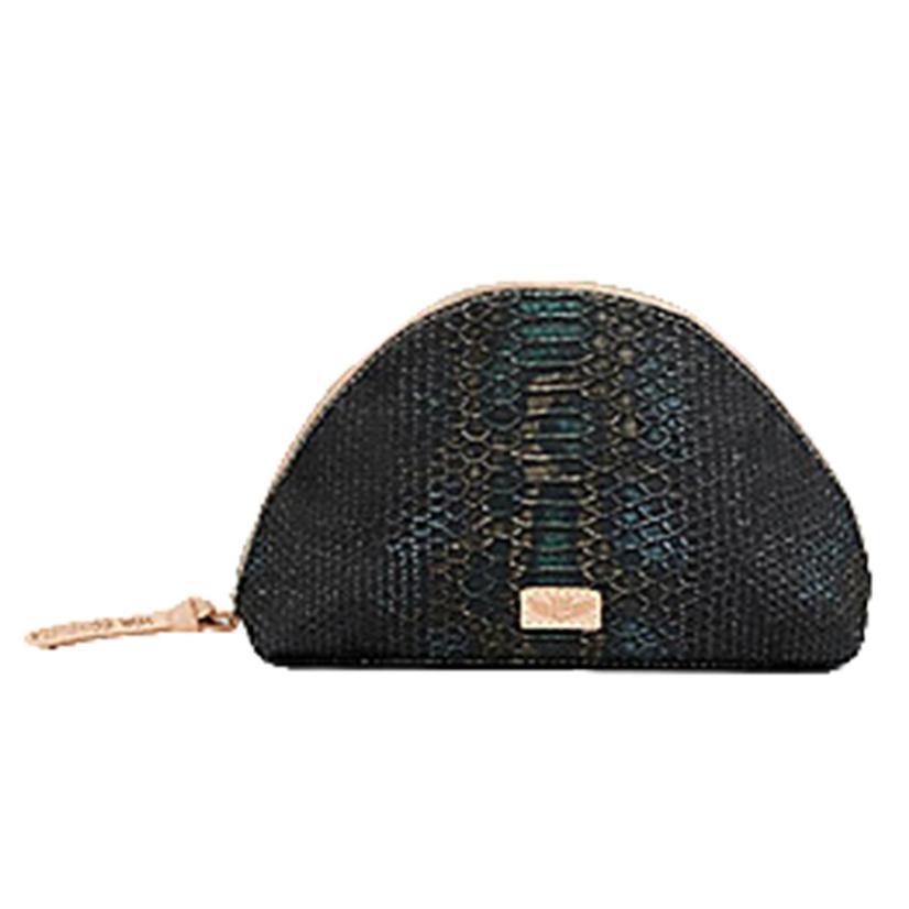 Consuela Rattler Snake Print Large Cosmetic Bag