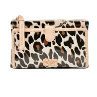 Consuela Mona Brown Leopard Slim Wallet