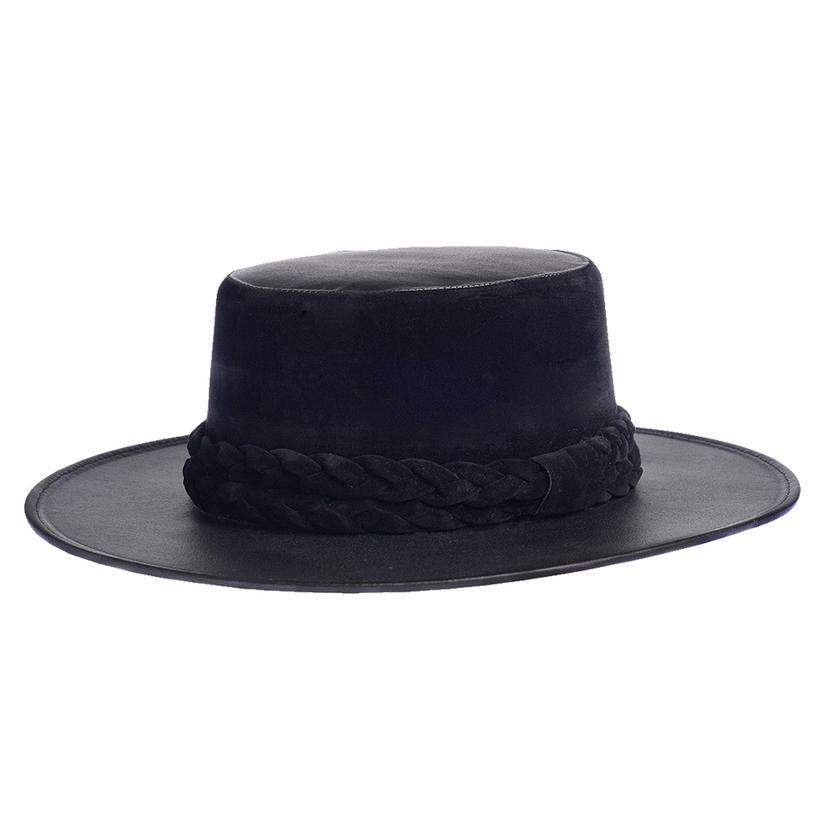 Cordobes Back In Black Felt Hat By Asn Hats