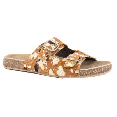 Roper Desiree Hair on Hide Buckle Sandal
