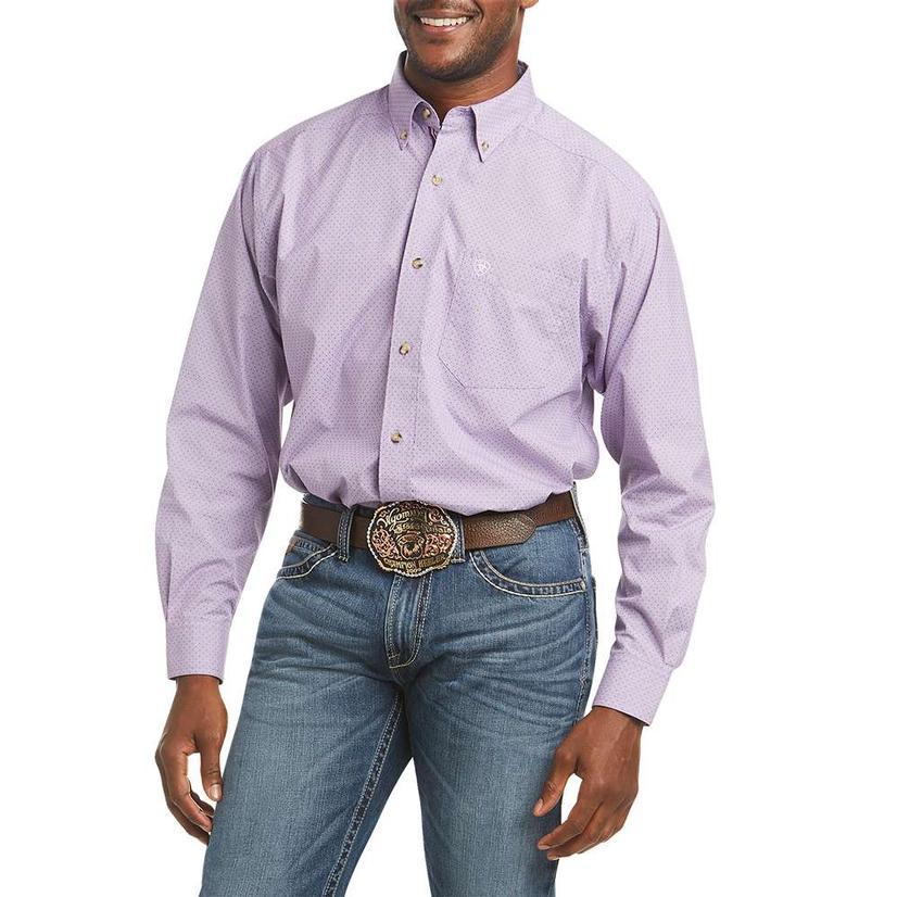 Ariat Hugh Iris Print Long Sleeve Buttondown Men's Shirt