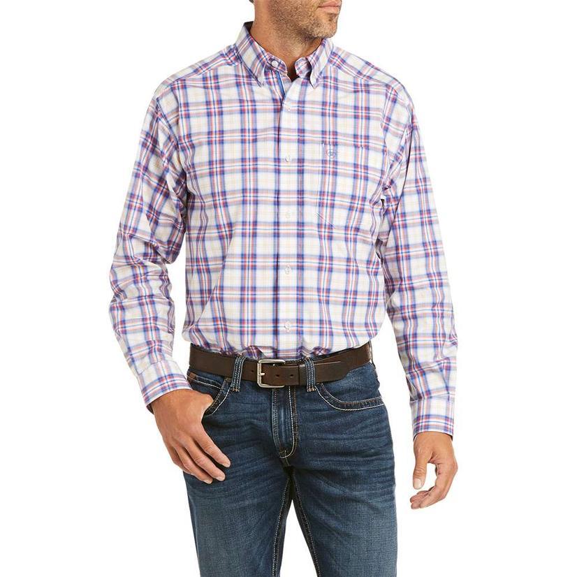 Ariat Boston Multi Plaid Long Sleeve Buttondown Men's Shirt